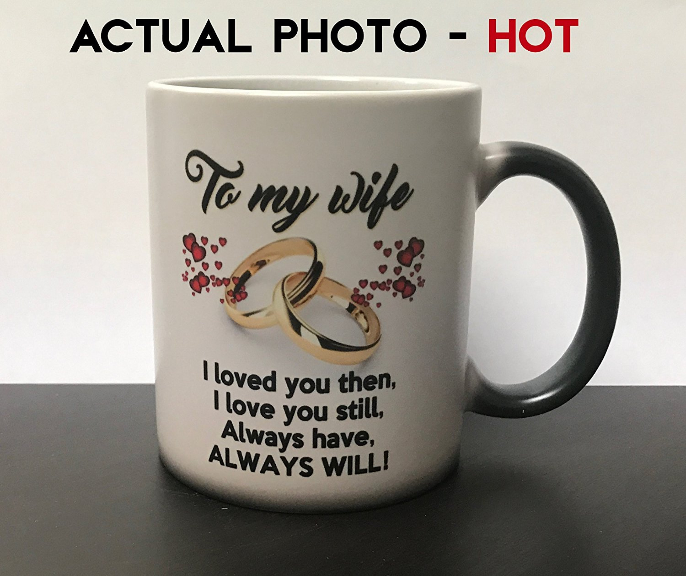 wife birthday gift Anniversary Present For Her Color Changing Coffee Mug to My Wife  wife birthday gift