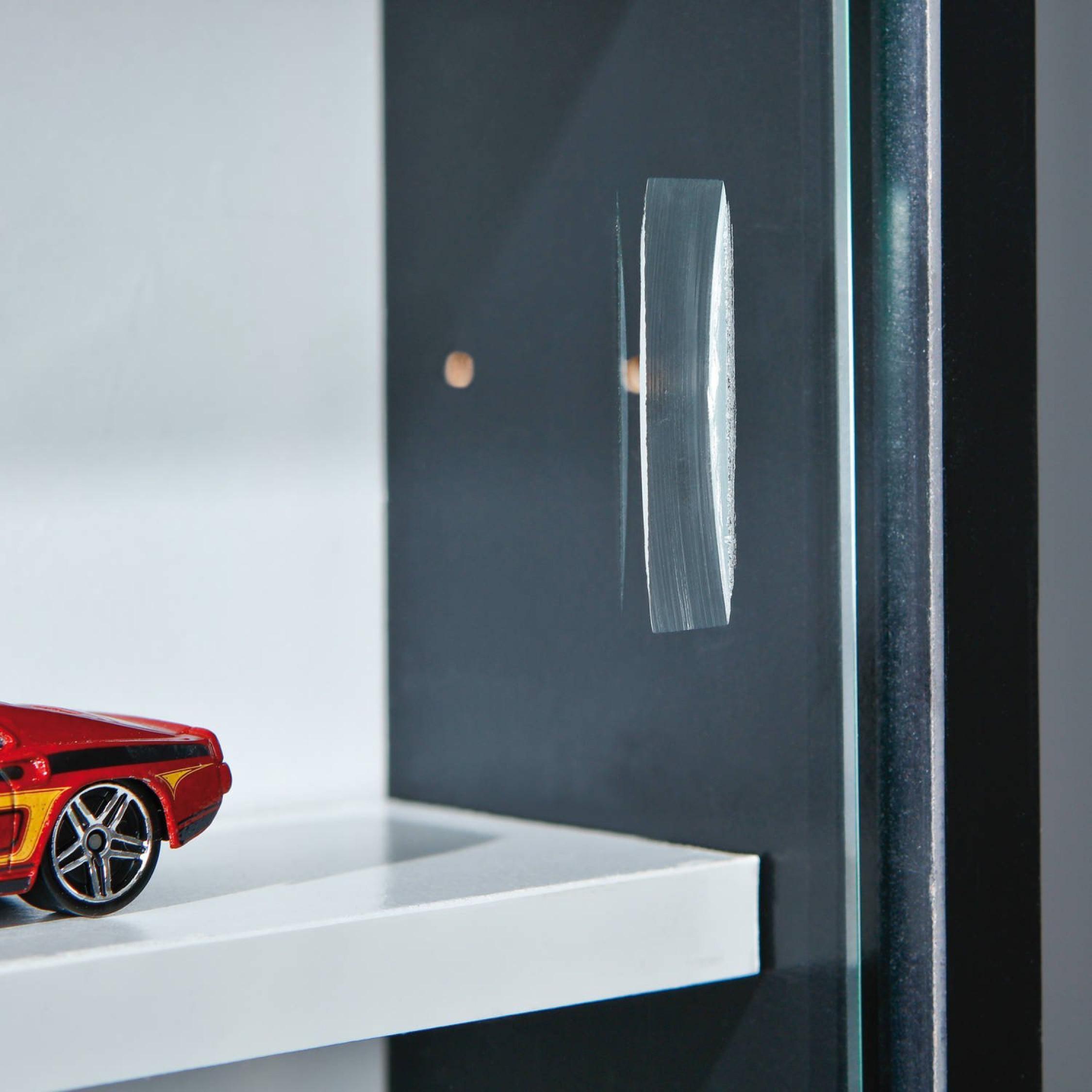 Collectors Display Cabinet Wall Mounted Glass Vitrine Wooden  # Vitrine En Bois Moderne