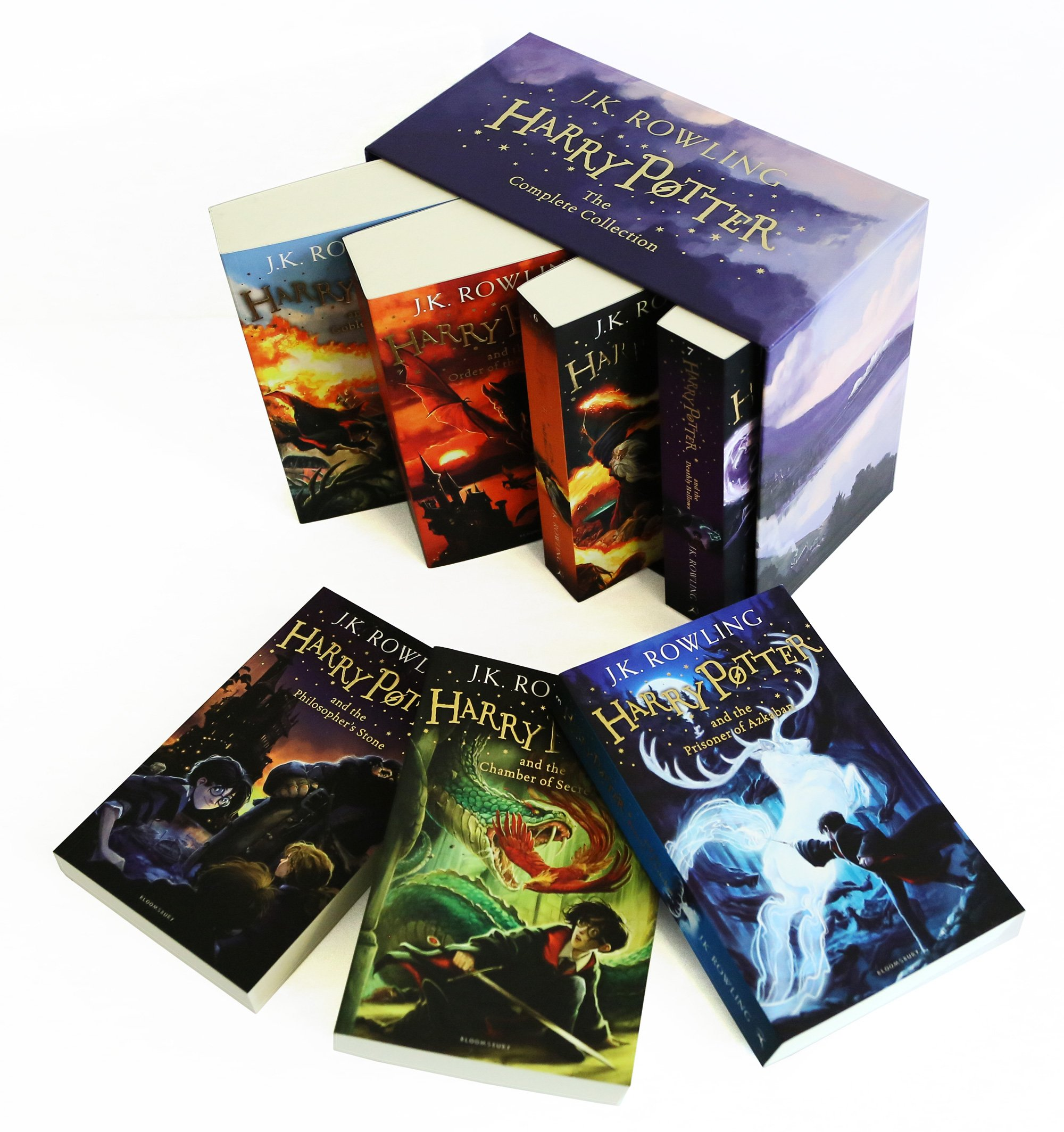 Harry Potter Book Gift Set : The complete harry potter books collection boxed gift