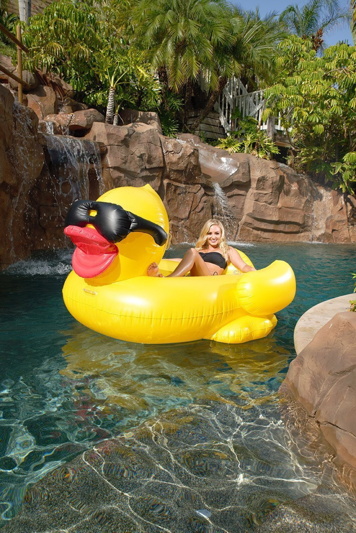 Giant Mega Duck Inflatable Float Swimming Pool Beach Ride Kids