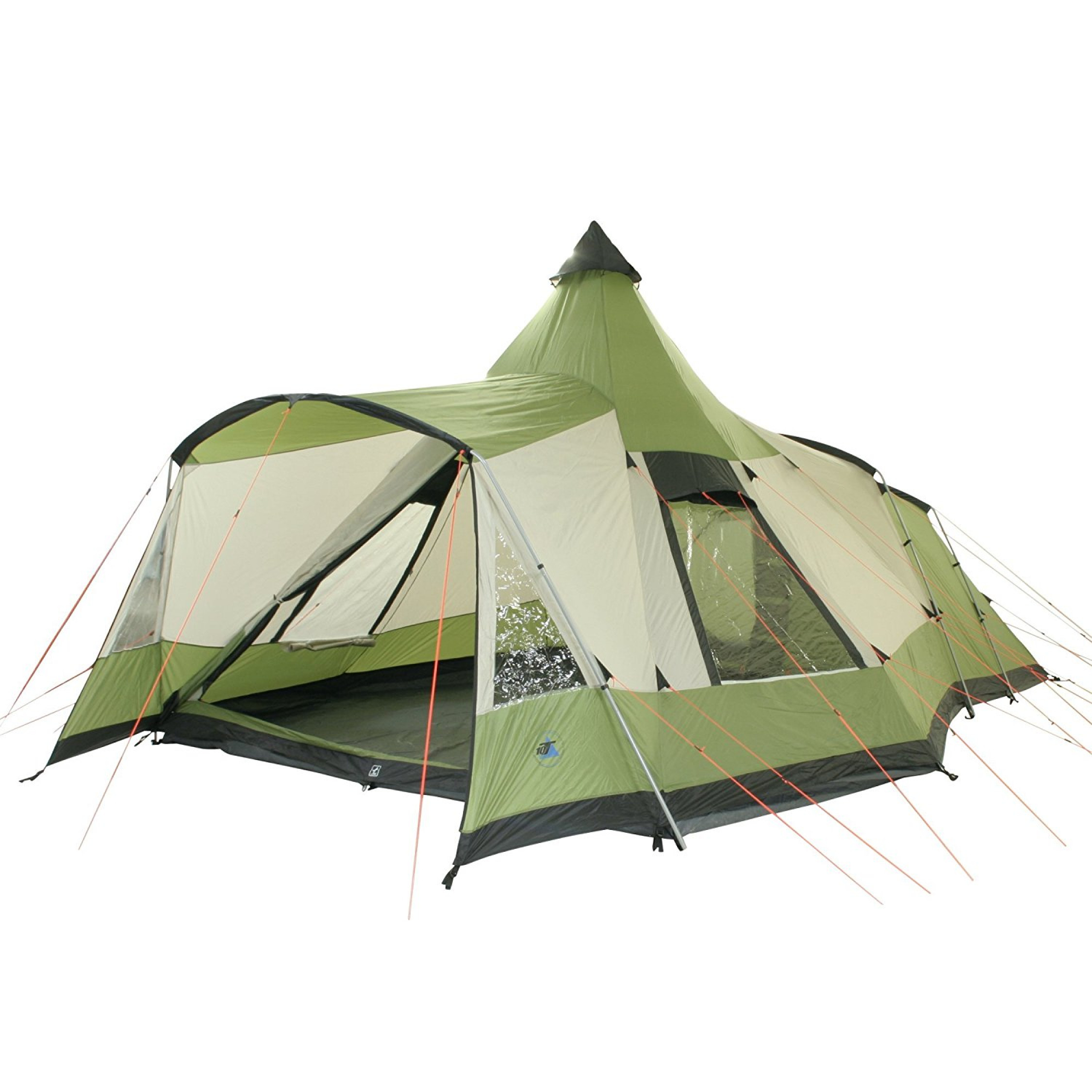 Huge Waterproof 5 Person Tent Durable Stable 5000mm