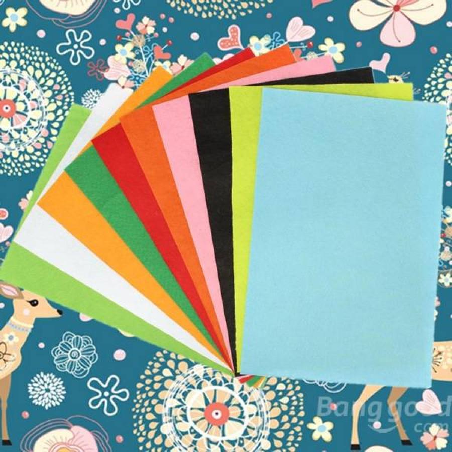10pcs-30x20cm-Mixed-Colours-Non-woven-Fabrics-Felt-For-DIY-Art-Handicraft