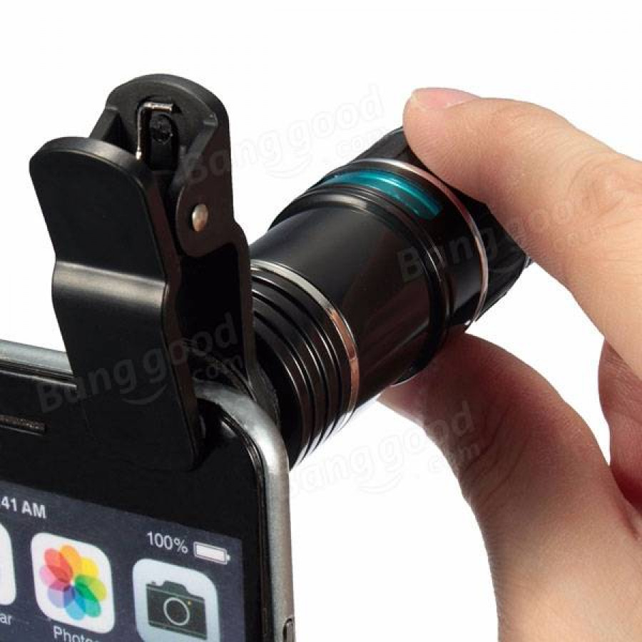 Tablet-Cellphone-Universal-12X-Zoom-Optical-Clip-Telephoto-Telescope-Camera-Lens