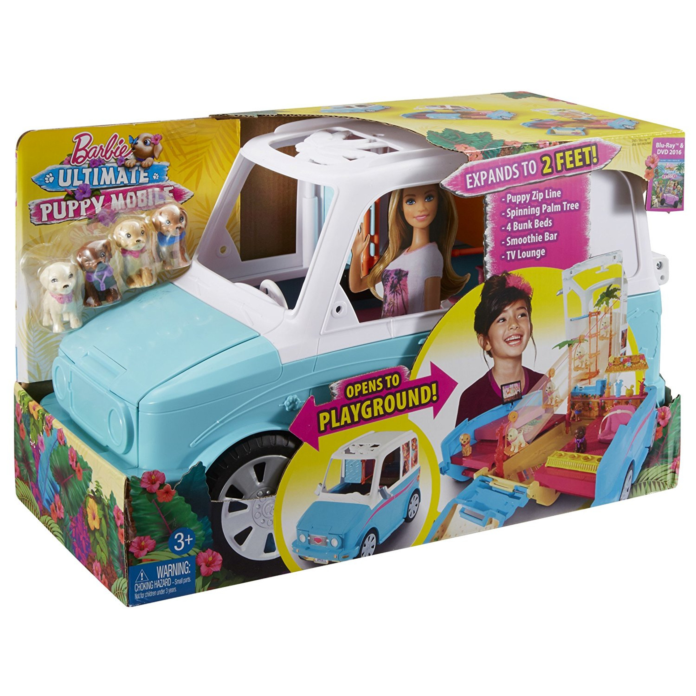 Barbie Ultimate Puppy Mobile VEHICLE KIDS GIRLS TOY GIFT PLAYSET
