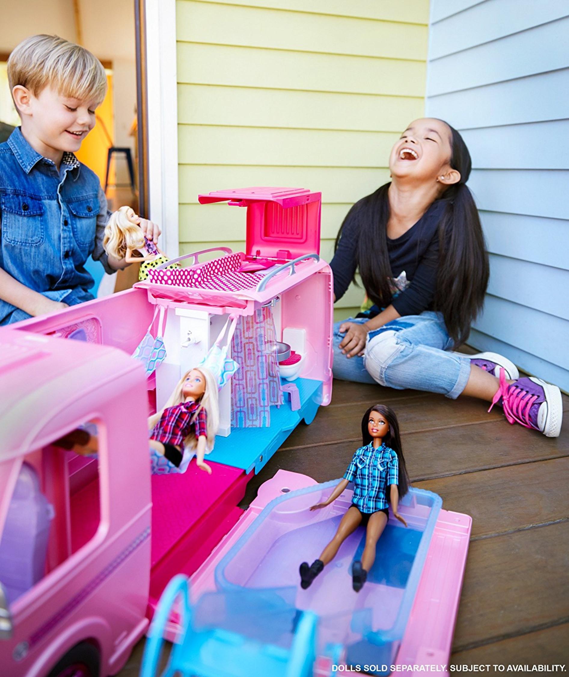 BARBIE FBR34 Camper Van Vehicle Fashion Doll And