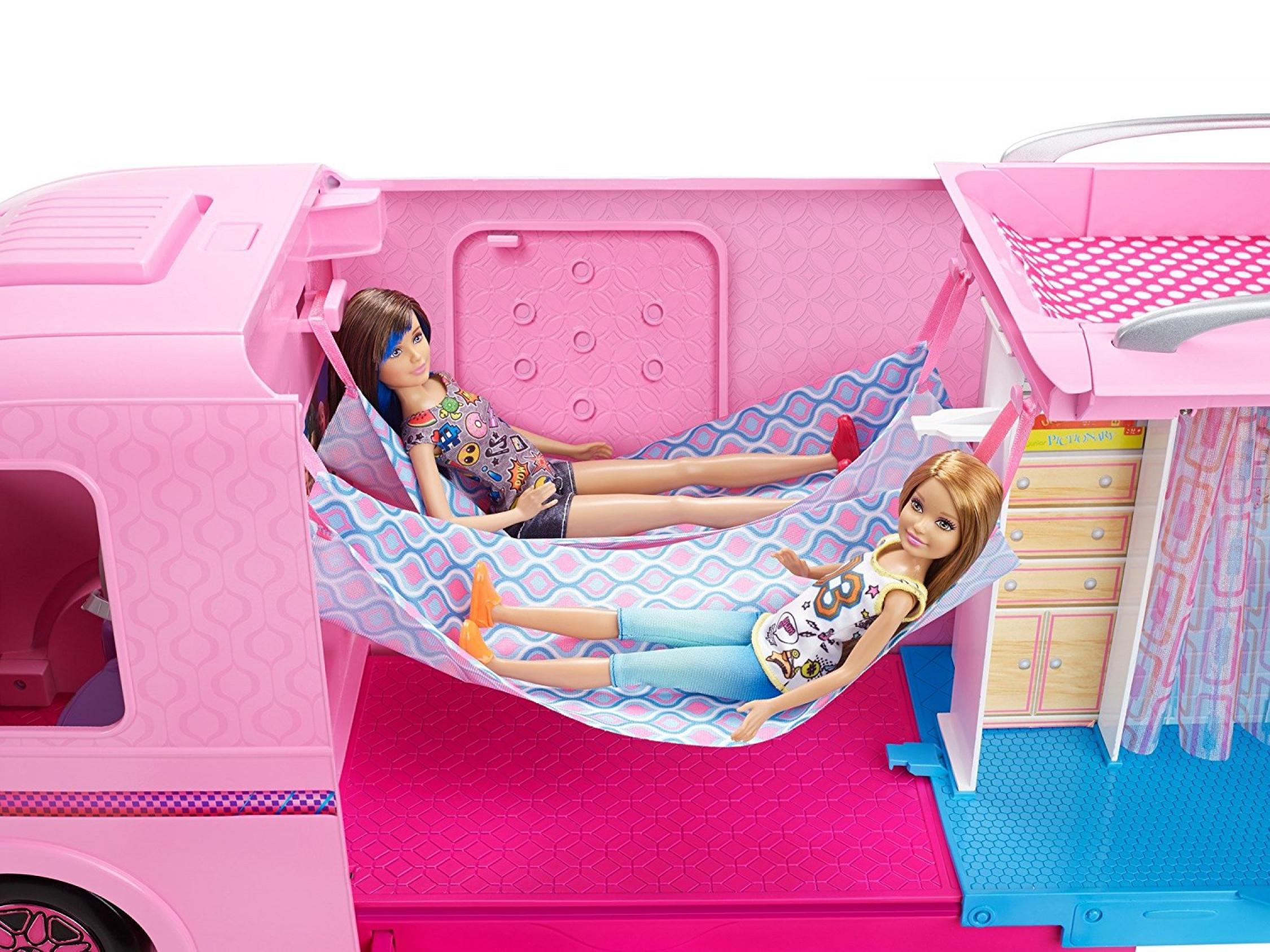 Barbie Dream Camper Van Campsite Play Set Piscine Water Slide Beds Dolls Caravane Ebay