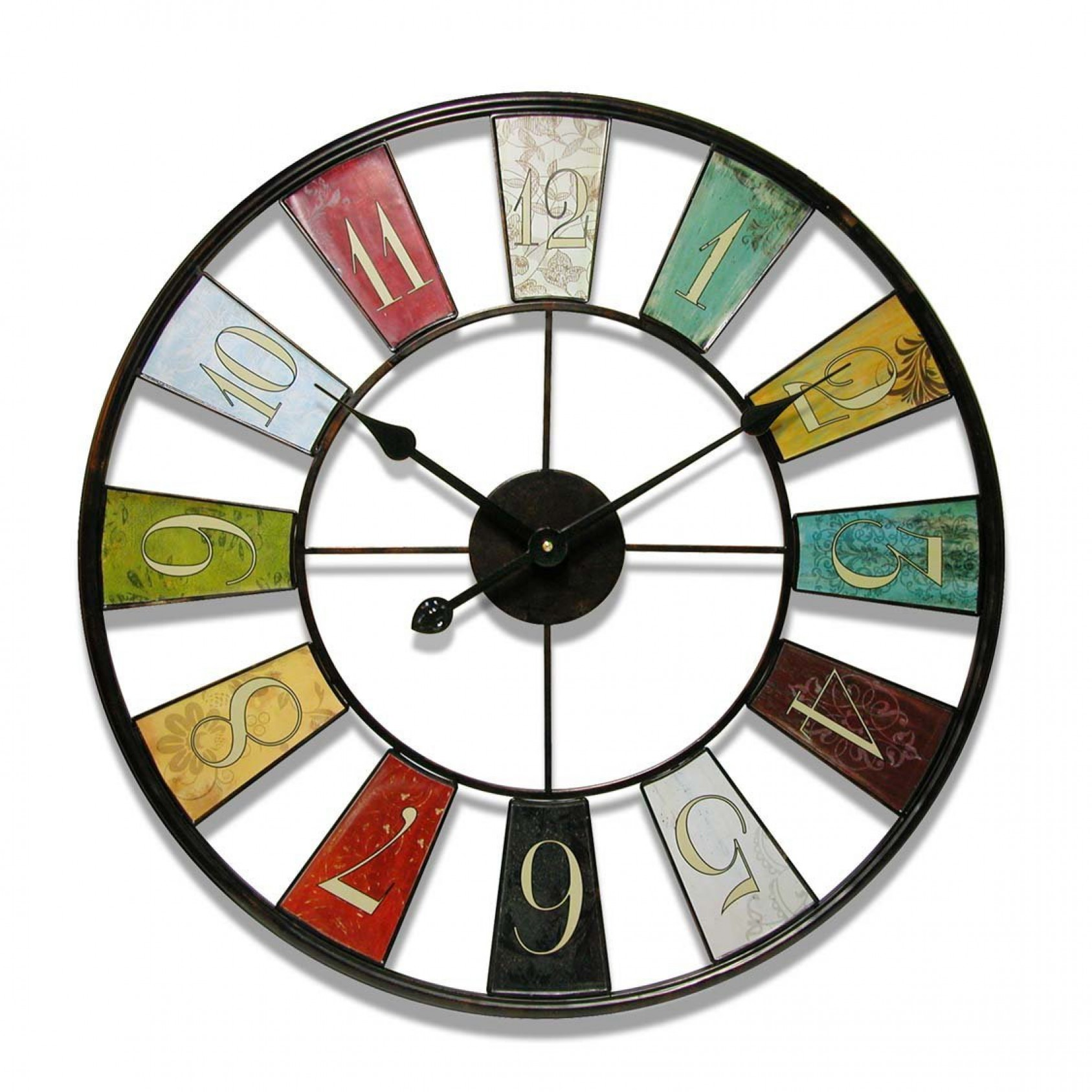 Best vintage kaleidoscope wall clock bedroom office watch decor image is loading best vintage kaleidoscope wall clock bedroom office watch amipublicfo Images