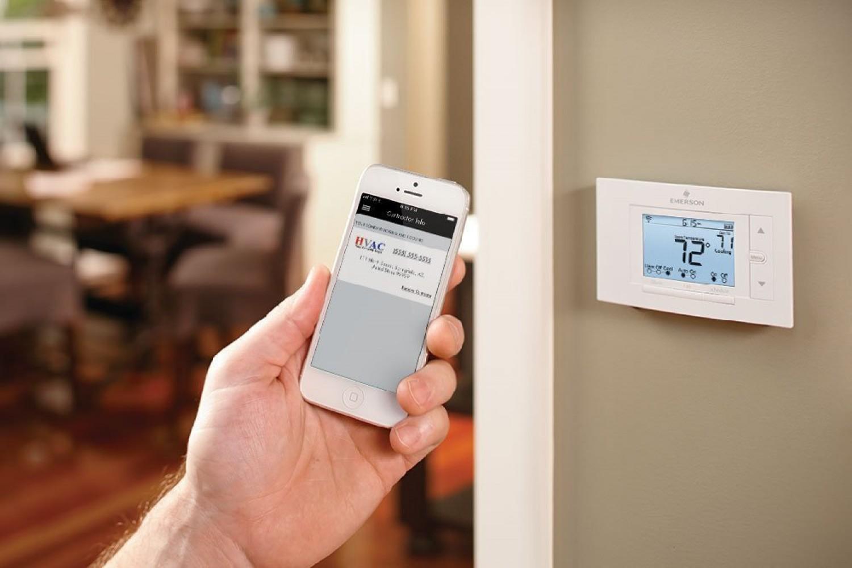 wireless thermostat remote sensor programmable smart home. Black Bedroom Furniture Sets. Home Design Ideas