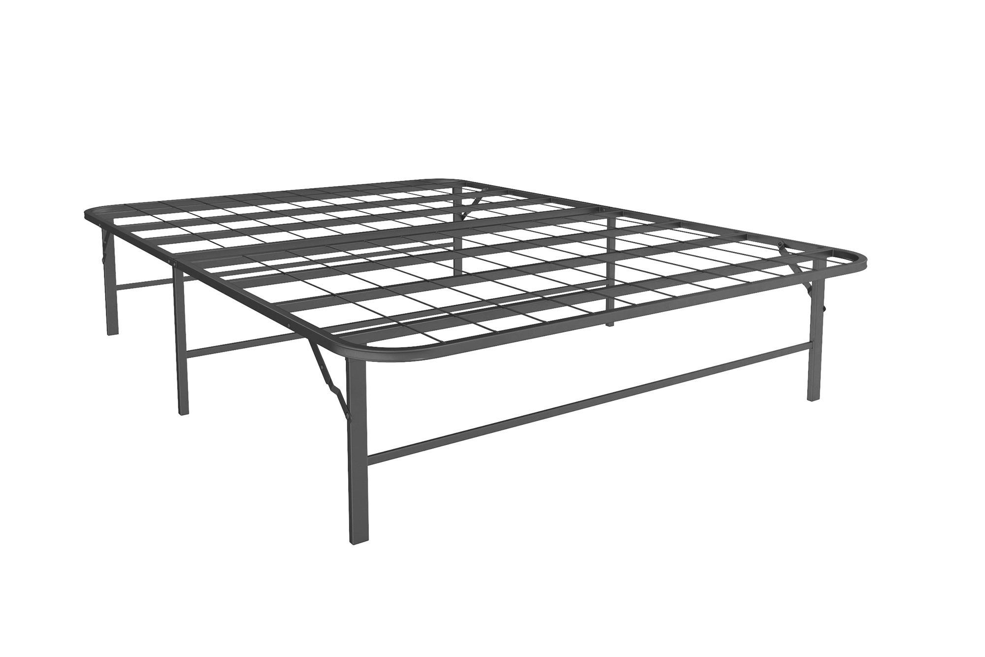 Metal Platform Bed Frame and Mattress Foundation Black Full Size ...