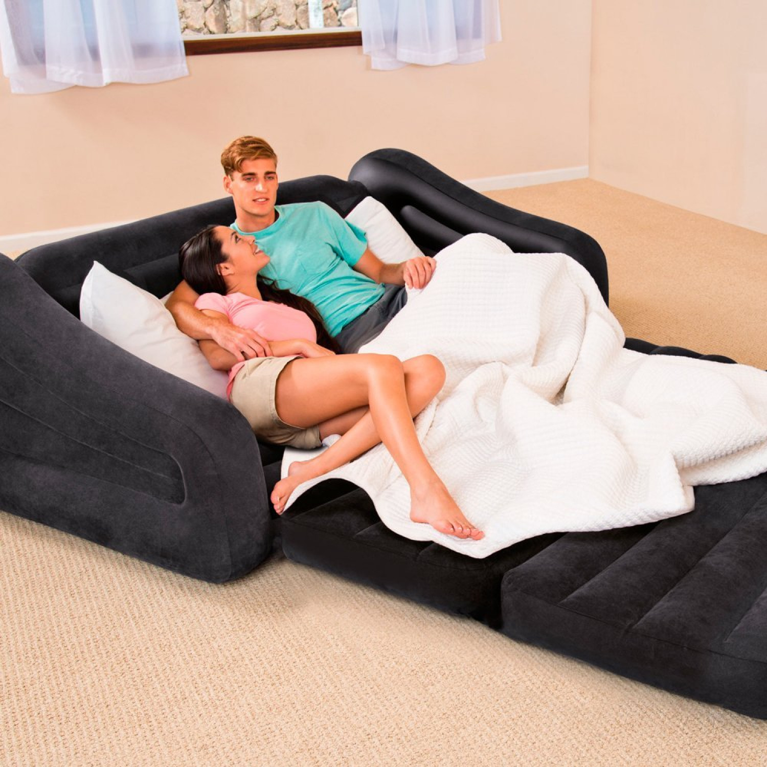 Black Inflatable Double Blow Up Camping kids Air Bed Sofa  : newz355454u265z265 from www.ebay.co.uk size 1500 x 1500 jpeg 430kB