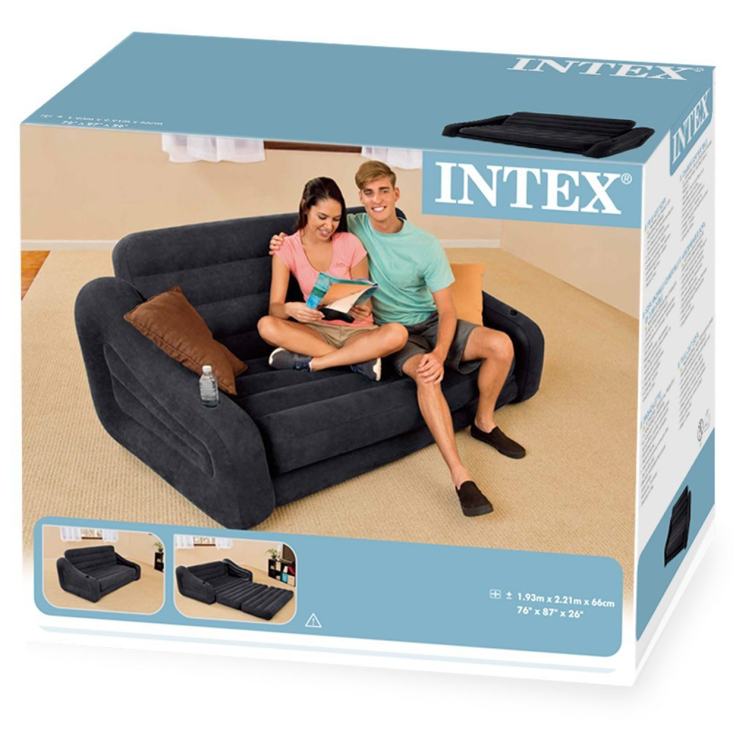 Black Inflatable Double Blow Up Camping kids Air Bed Sofa  : newz355457u265z265 from www.ebay.co.uk size 1500 x 1500 jpeg 323kB