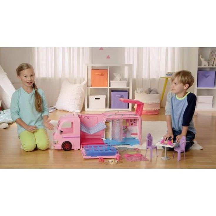Barbie Dream Camper Van Campsite Playset Pool Water Slide Beds Doll Caravan Gift Ebay