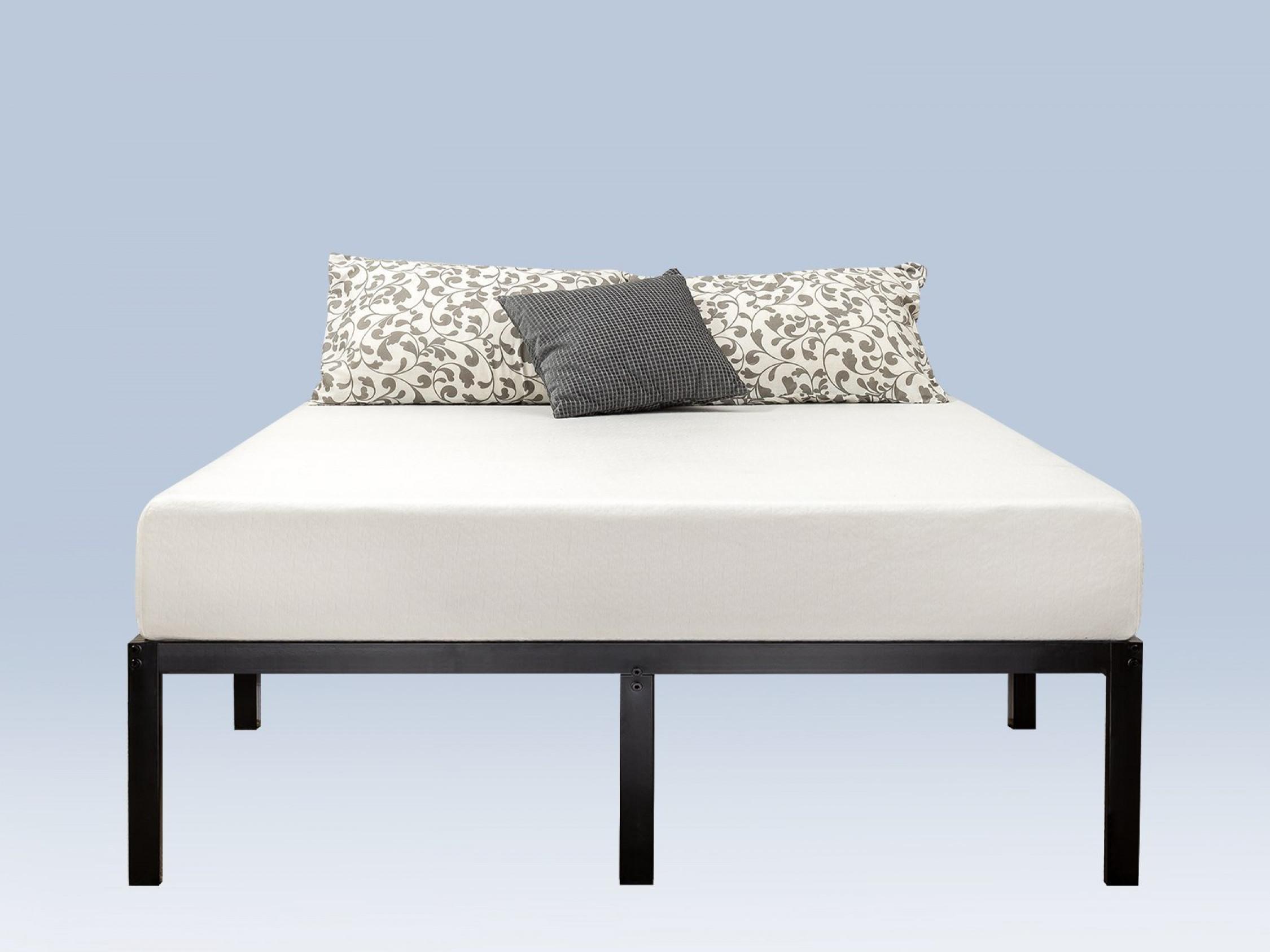 Plataforma de tamaño completo de marco metal debajo de cama Ropa de ...