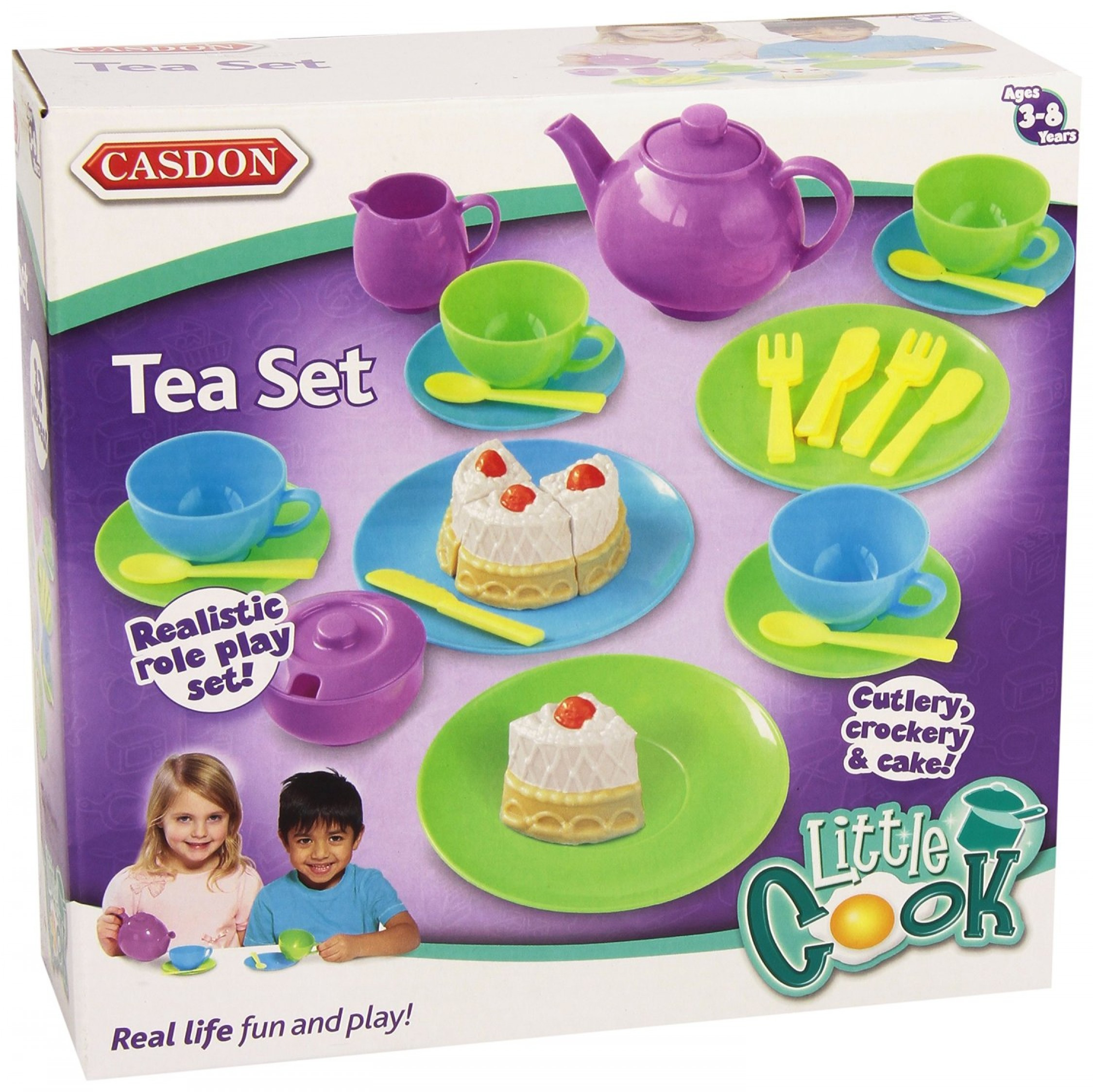 Kids Toy Tea Set Children Kitchen Play Food Skills Pretend Cook