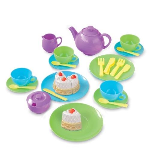Kids toy tea set children kitchen play food skills pretend