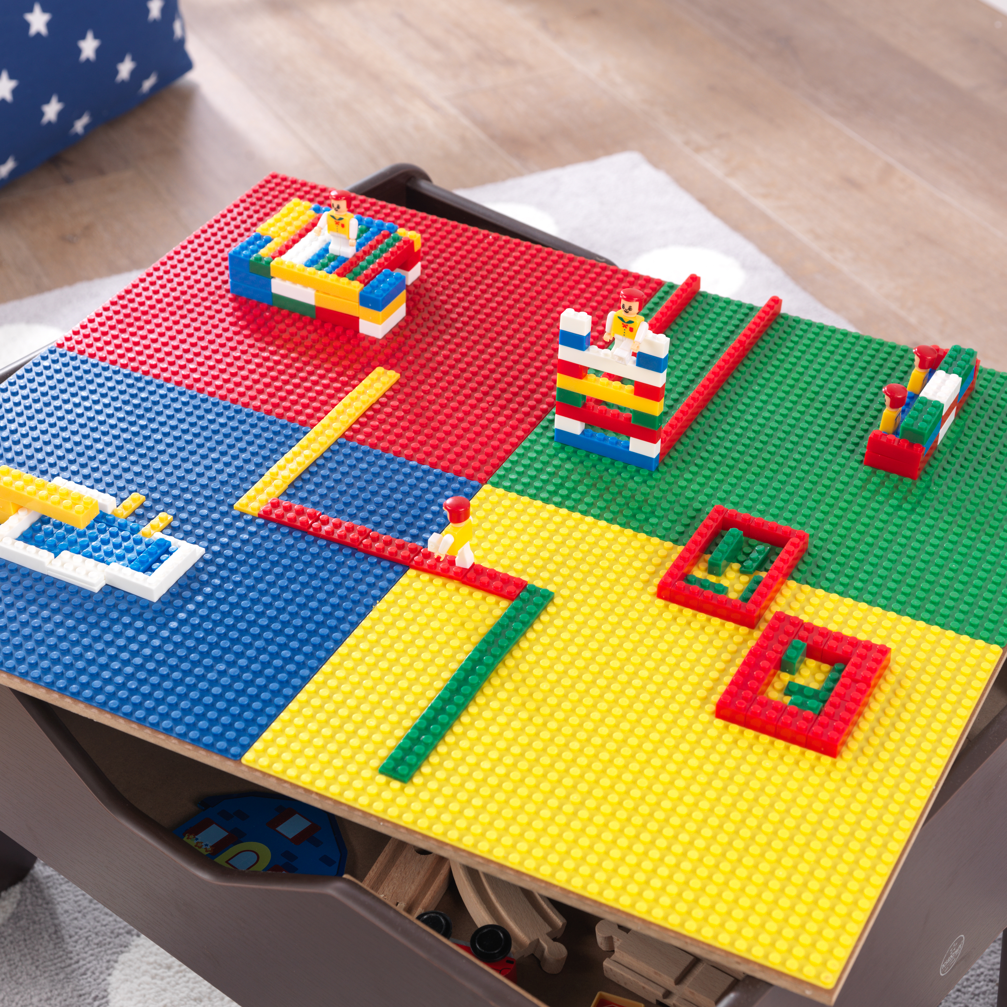 Kidkraft Espresso 2 In 1 Activity And Train Table With Lego Board