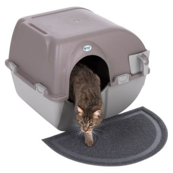 self cleaning cat litter tray box rolling clean hooded. Black Bedroom Furniture Sets. Home Design Ideas