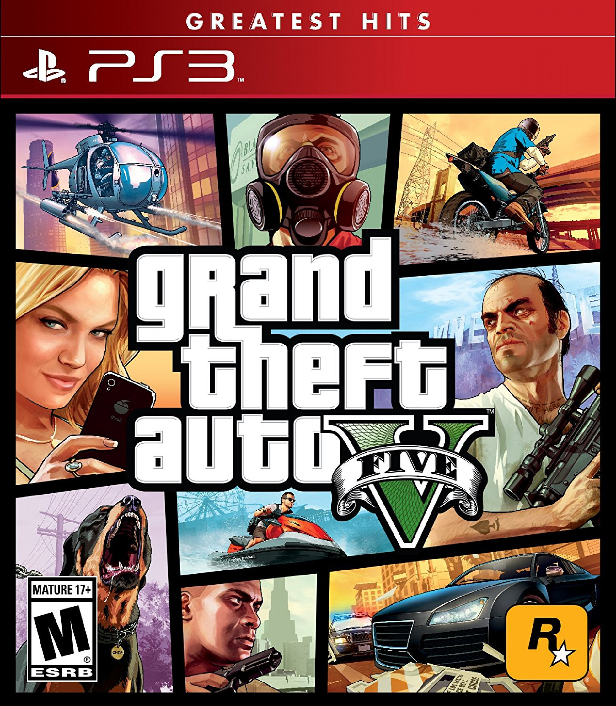 brand new grand theft auto v for sony playstation 3 ps3 gta 5 five