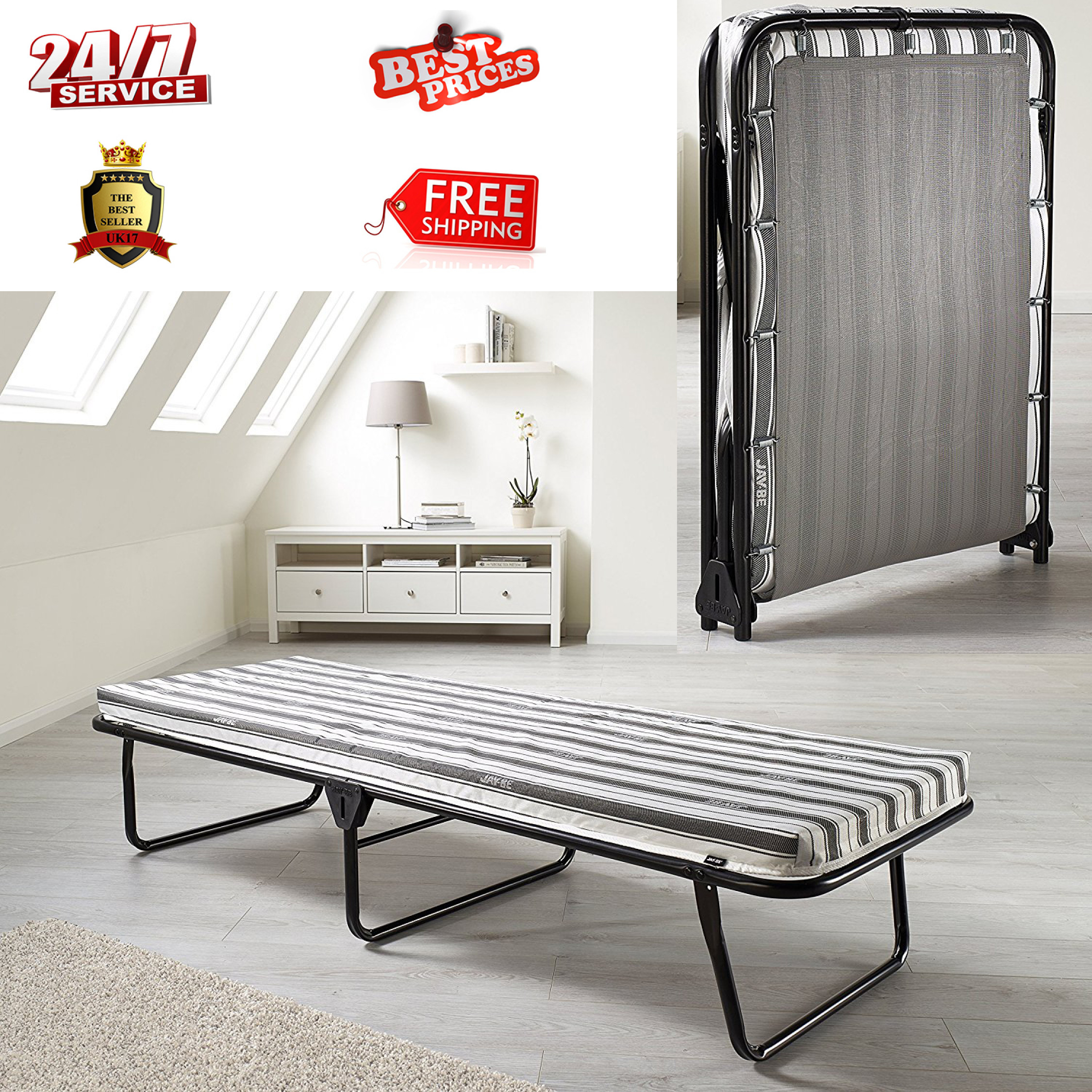 lightweight compact single bed airflow up mattress breathable folding fold guest itm