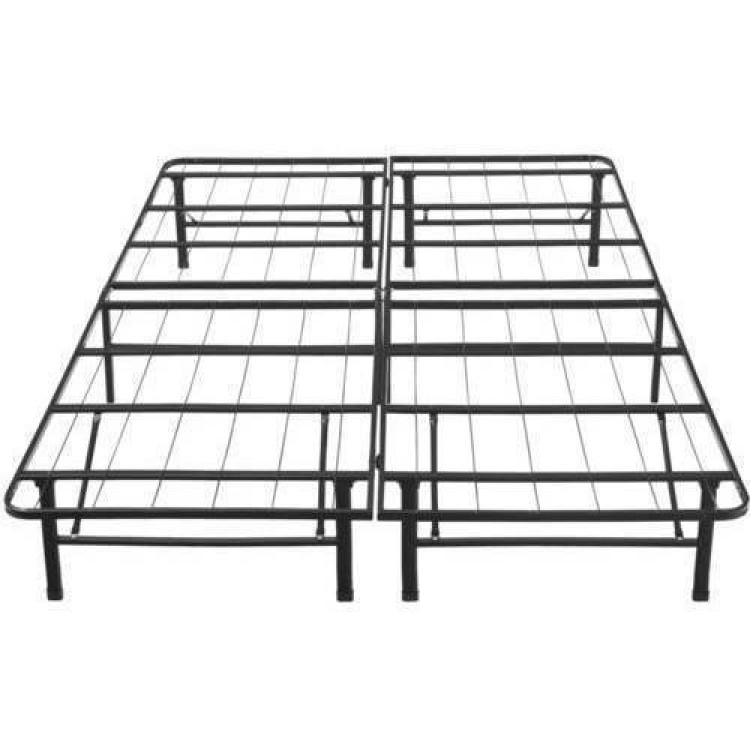 Classic Metal Platform Bed Frame Cal King Dream Steel Box Spring ...