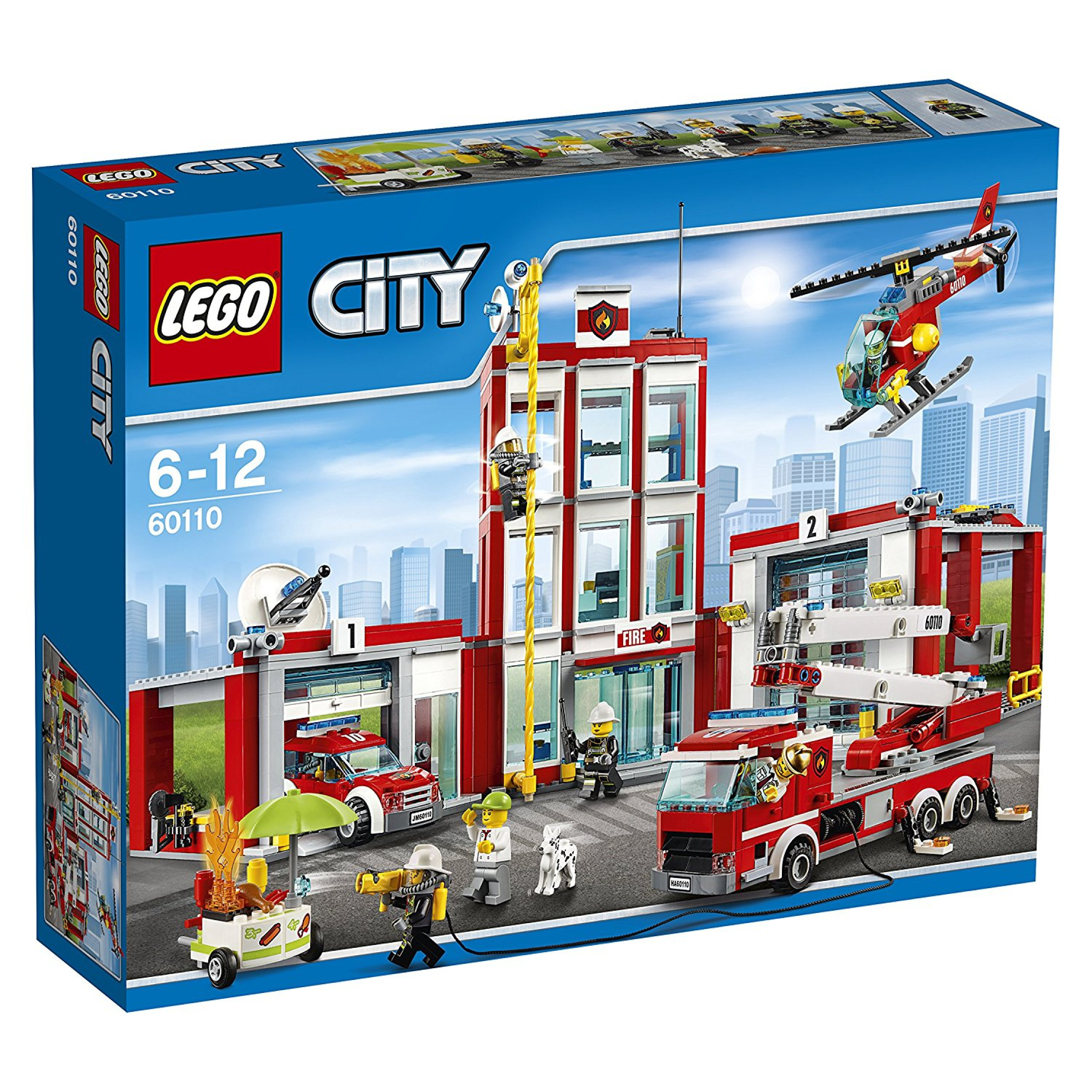 Image is loading LEGO-City-Fire-60110-Fire-Station-Mixed-Truck-