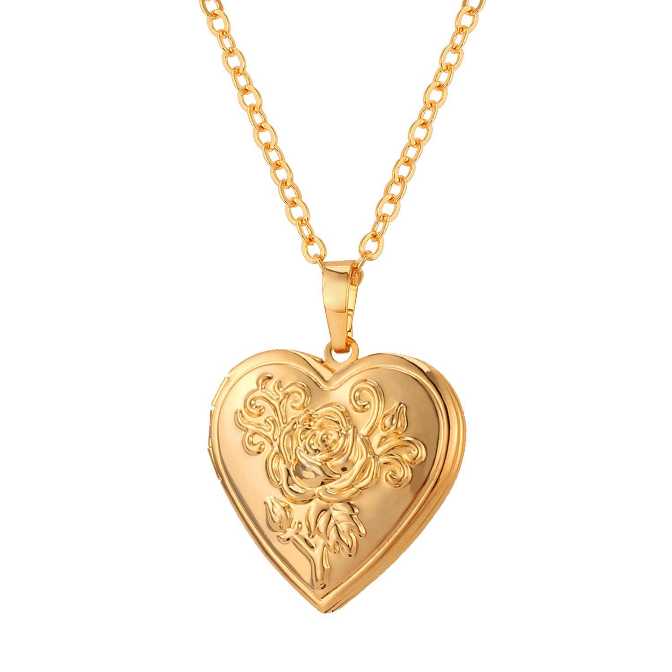 Heart shaped photo locket pendant women fashion jewelry 18k gold foto en forma de corazon colgante mujer moda aloadofball Gallery