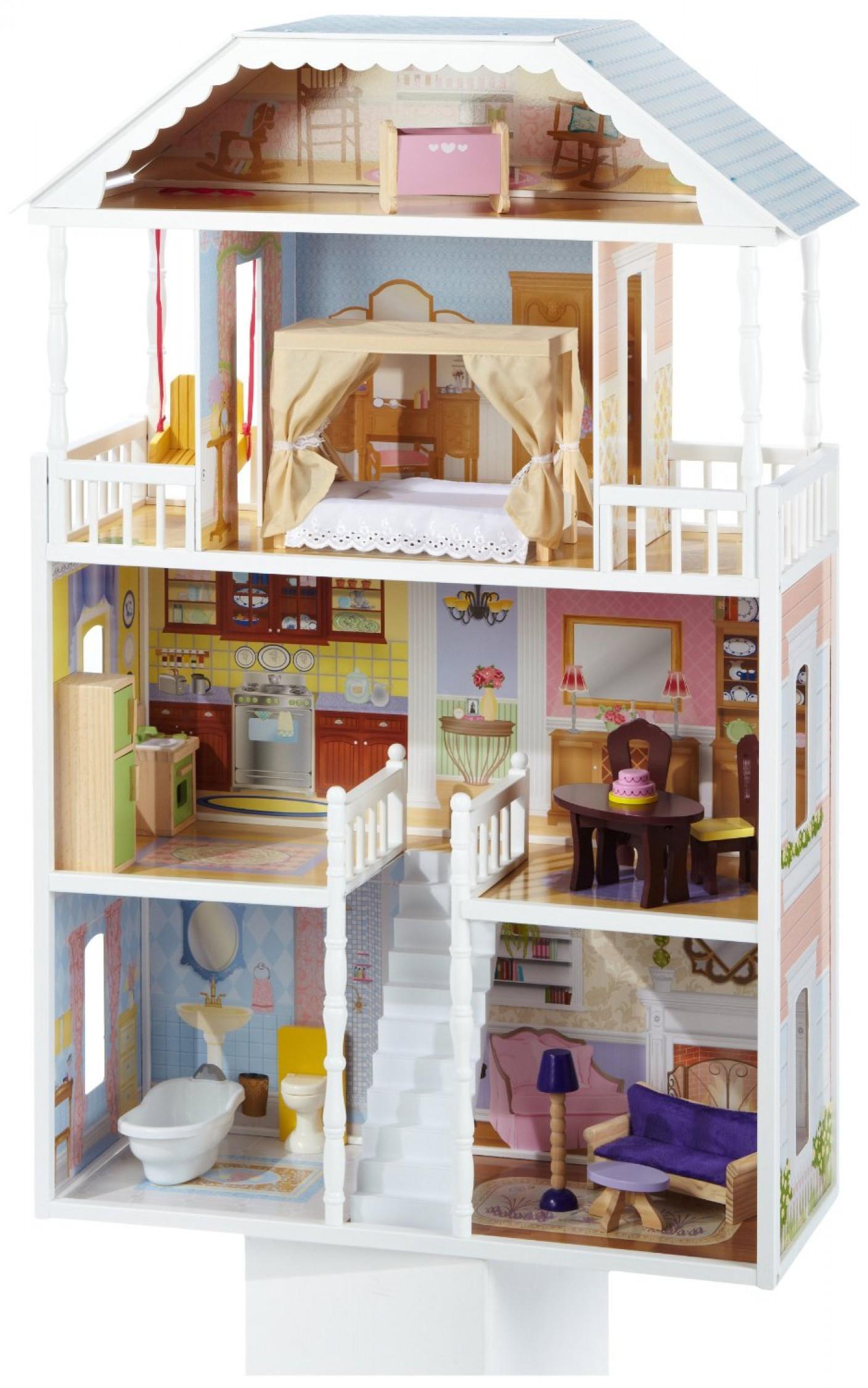 Image Is Loading Kidkraft DollHouse Savannah 4 Levels Doll Mansion Kit