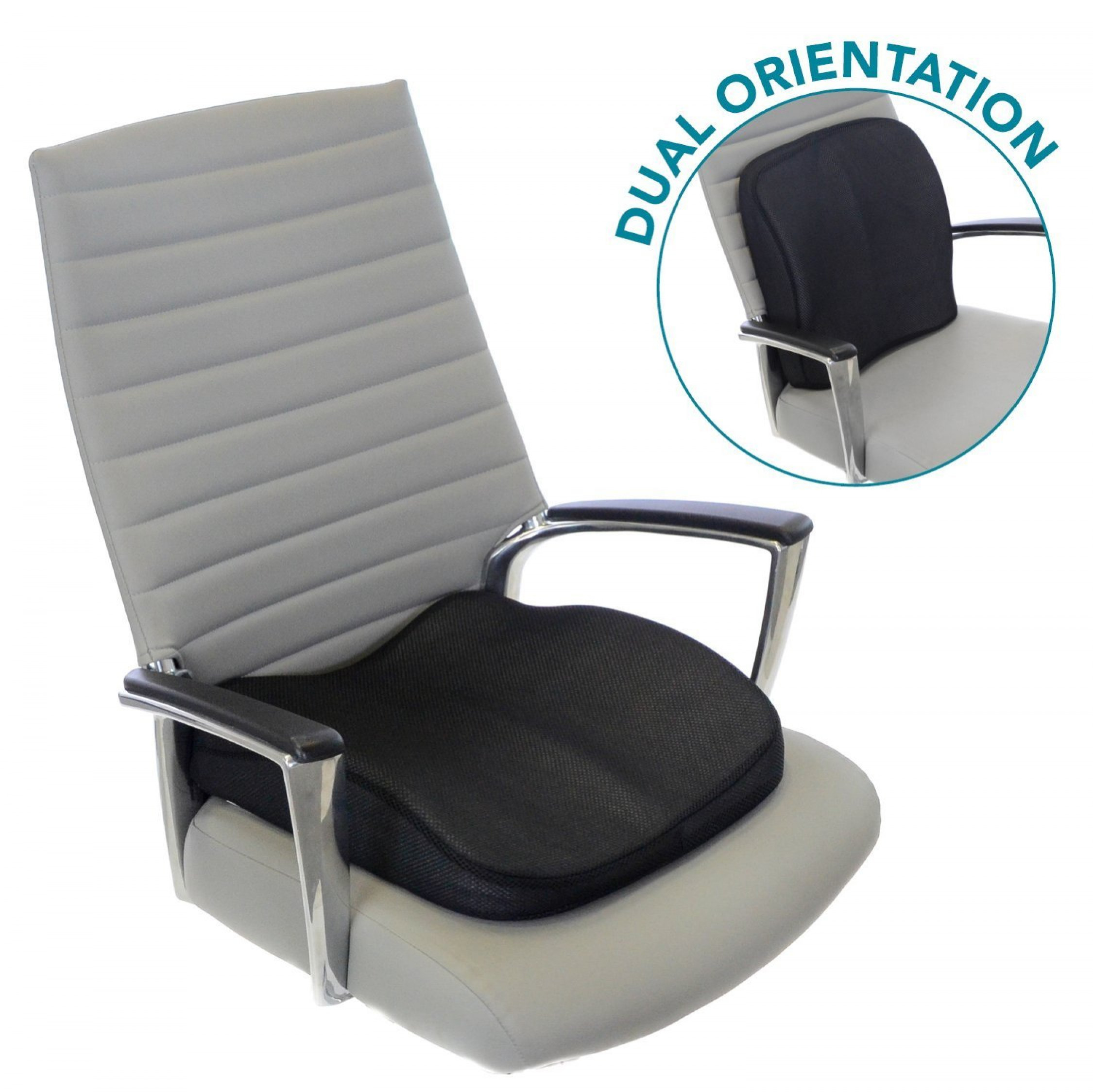 Image is loading Memory Foam Seat Cushion for Lower Back Support