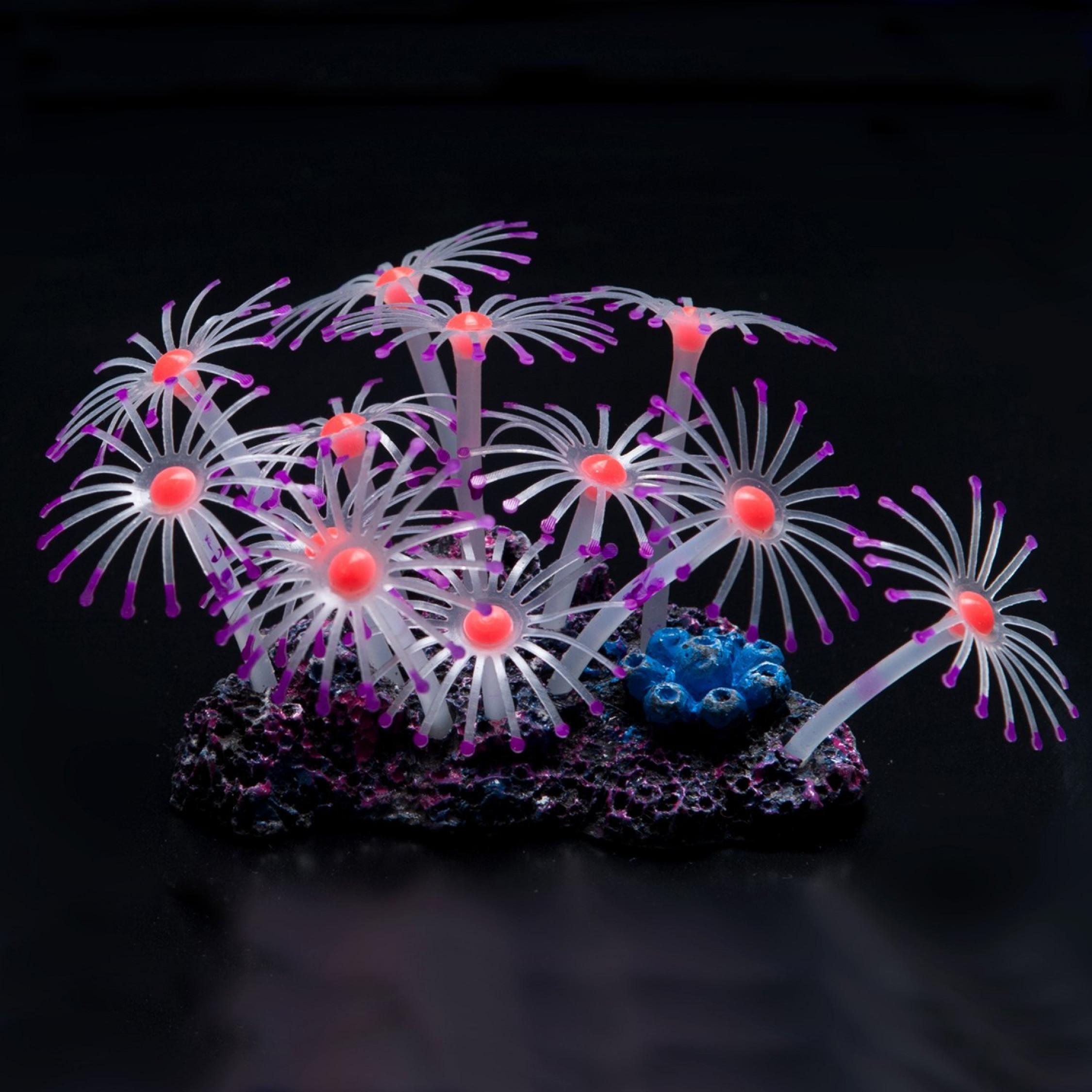 Artificial aquarium fish tank - Image Is Loading Glowing Artificial Coral Plant Fish Tank Aquarium Realistic