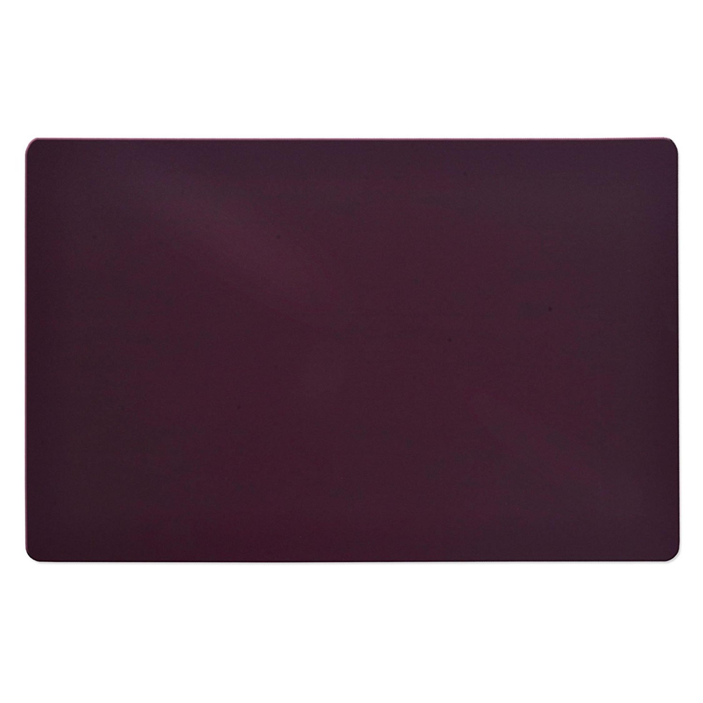 Rectangular Office Chair Mat Purple Hard Floor Protection
