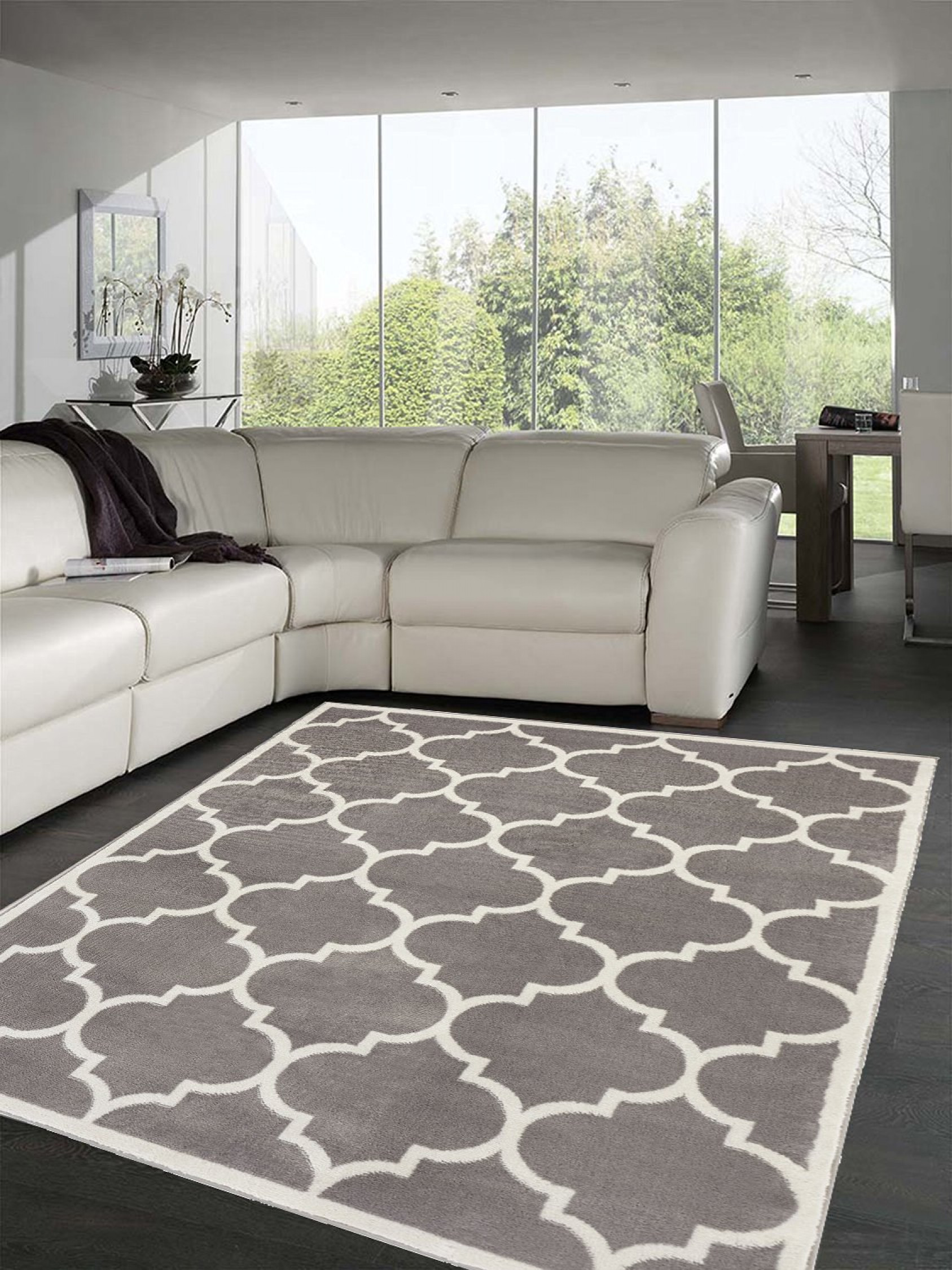 Image Is Loading Light Grey Living Room Area Rug W Moroccan