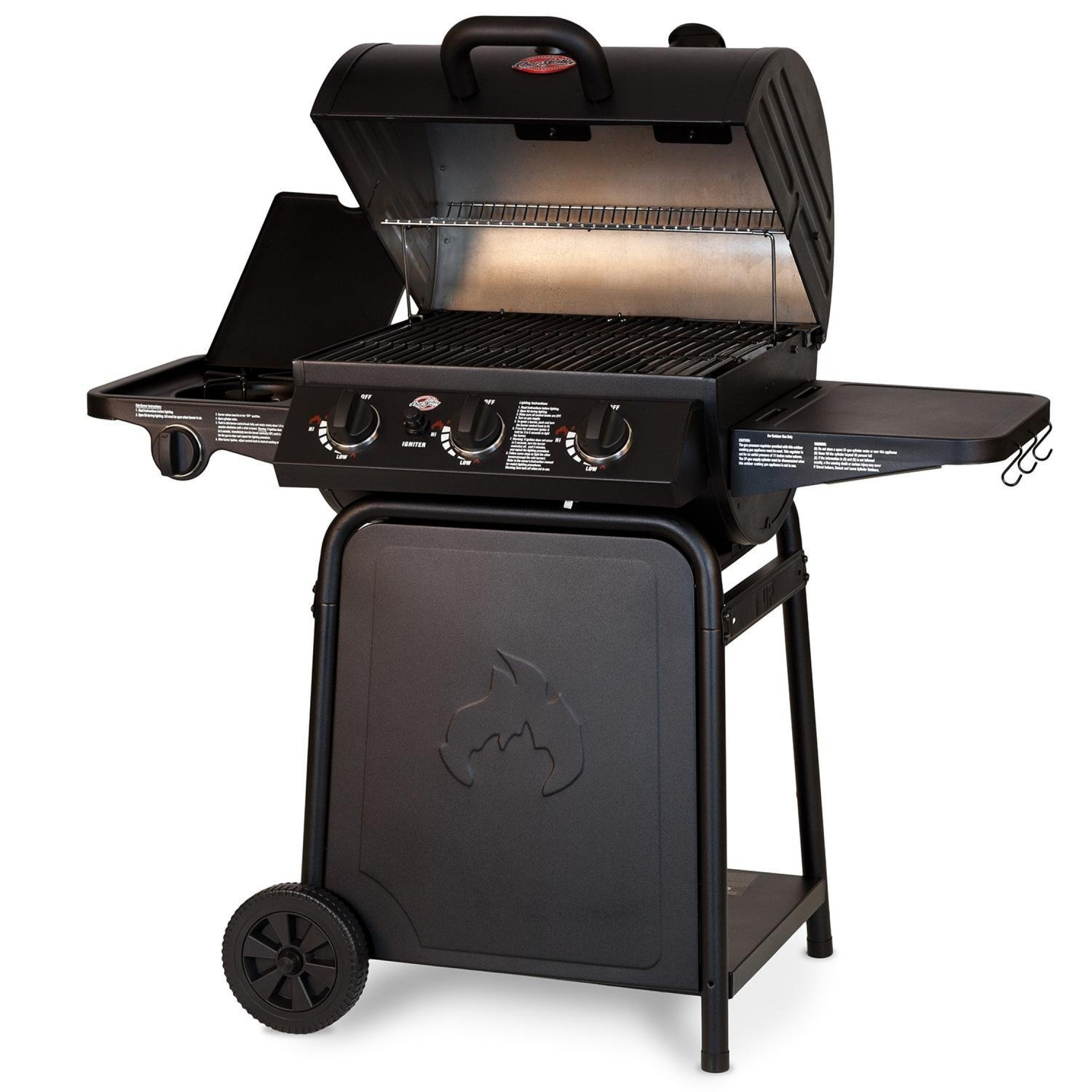 gas grill w side shelf workspace electronic ignition cooking bbq barbecue smoker ebay. Black Bedroom Furniture Sets. Home Design Ideas