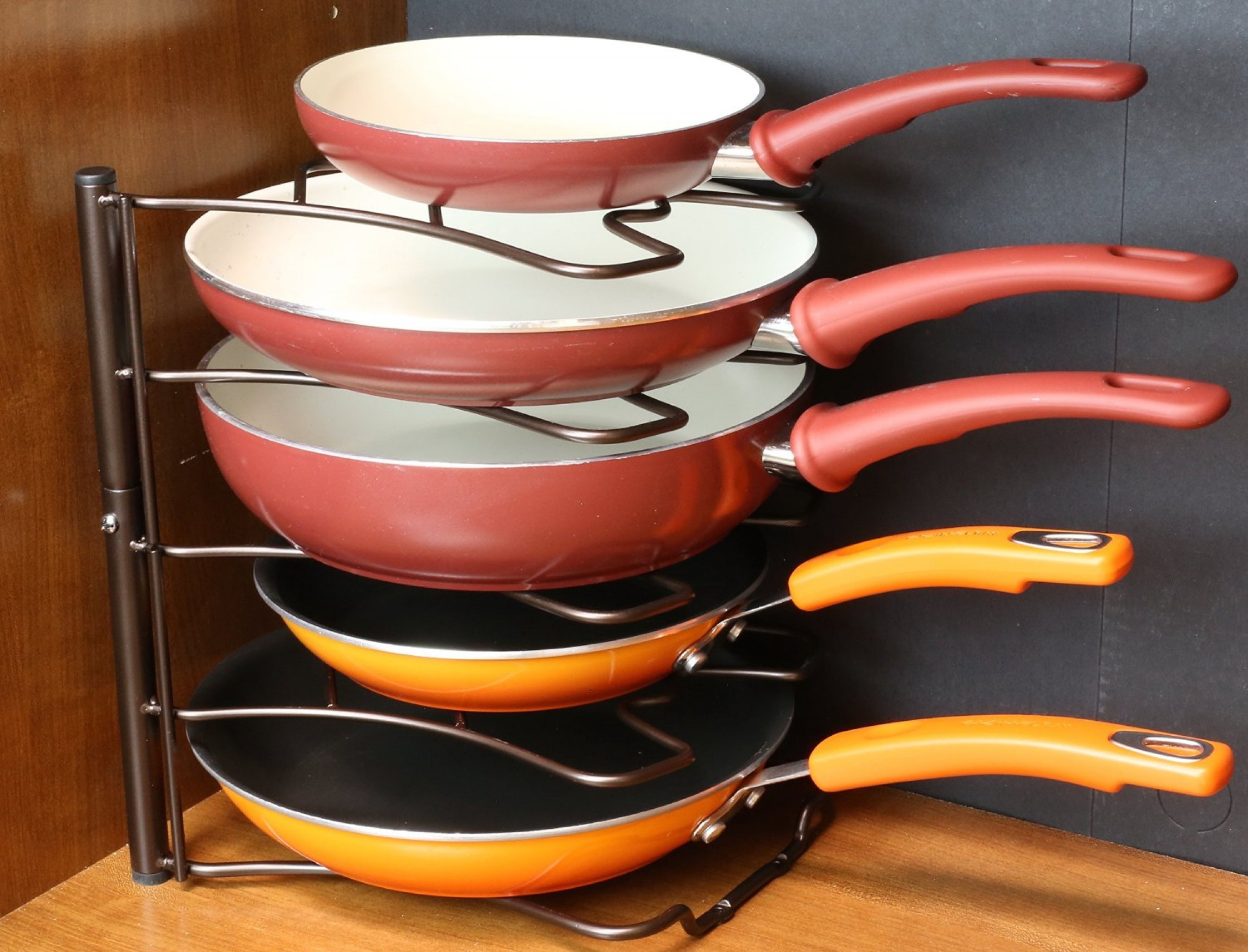 Counter & Cabinet Pan Organizer Shelf Rack Kitchen
