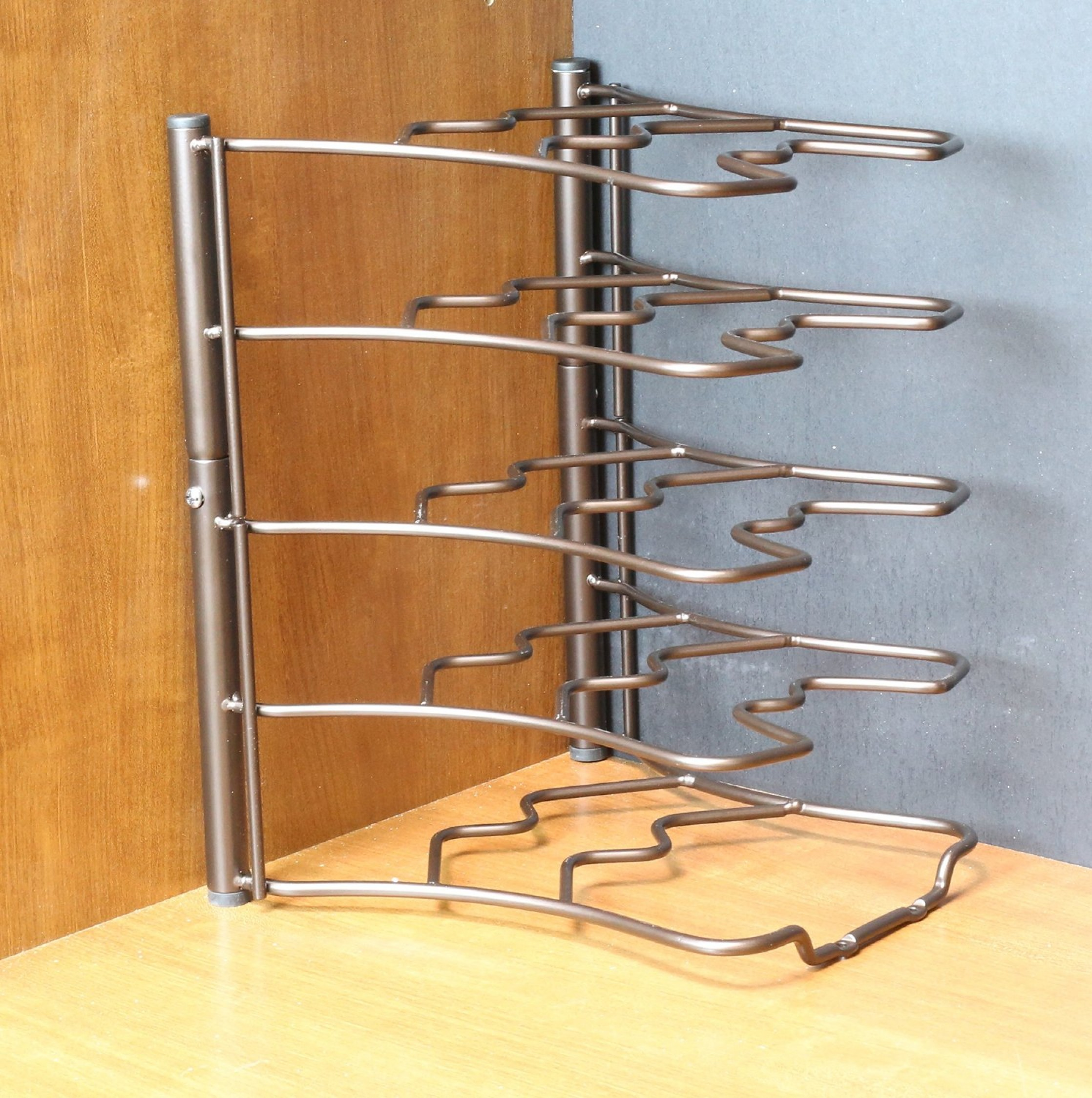 Counter & Cabinet Pan Organizer Shelf Rack Kitchen