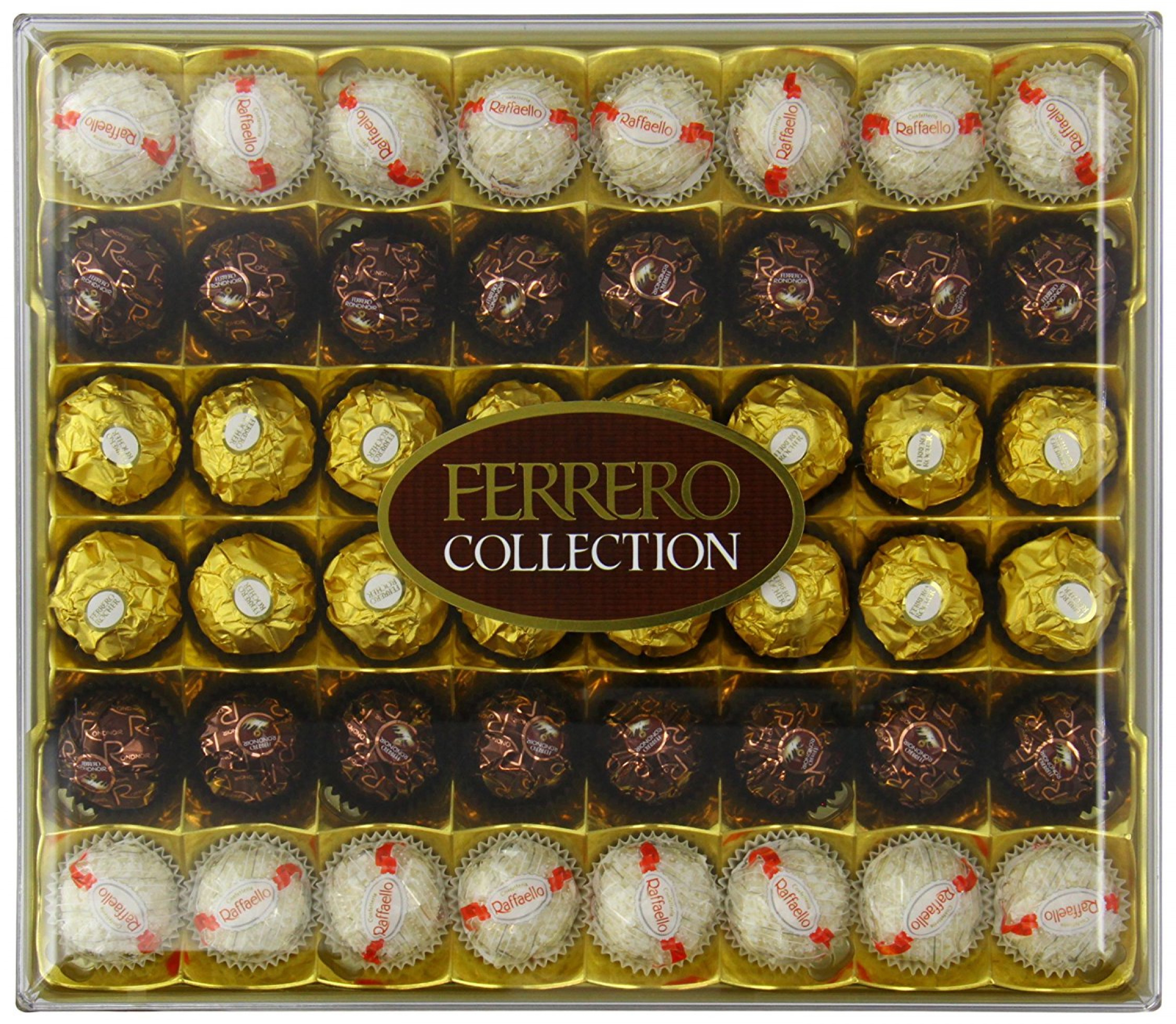 ferrero rocher 48 piece collection chocolate gift set. Black Bedroom Furniture Sets. Home Design Ideas