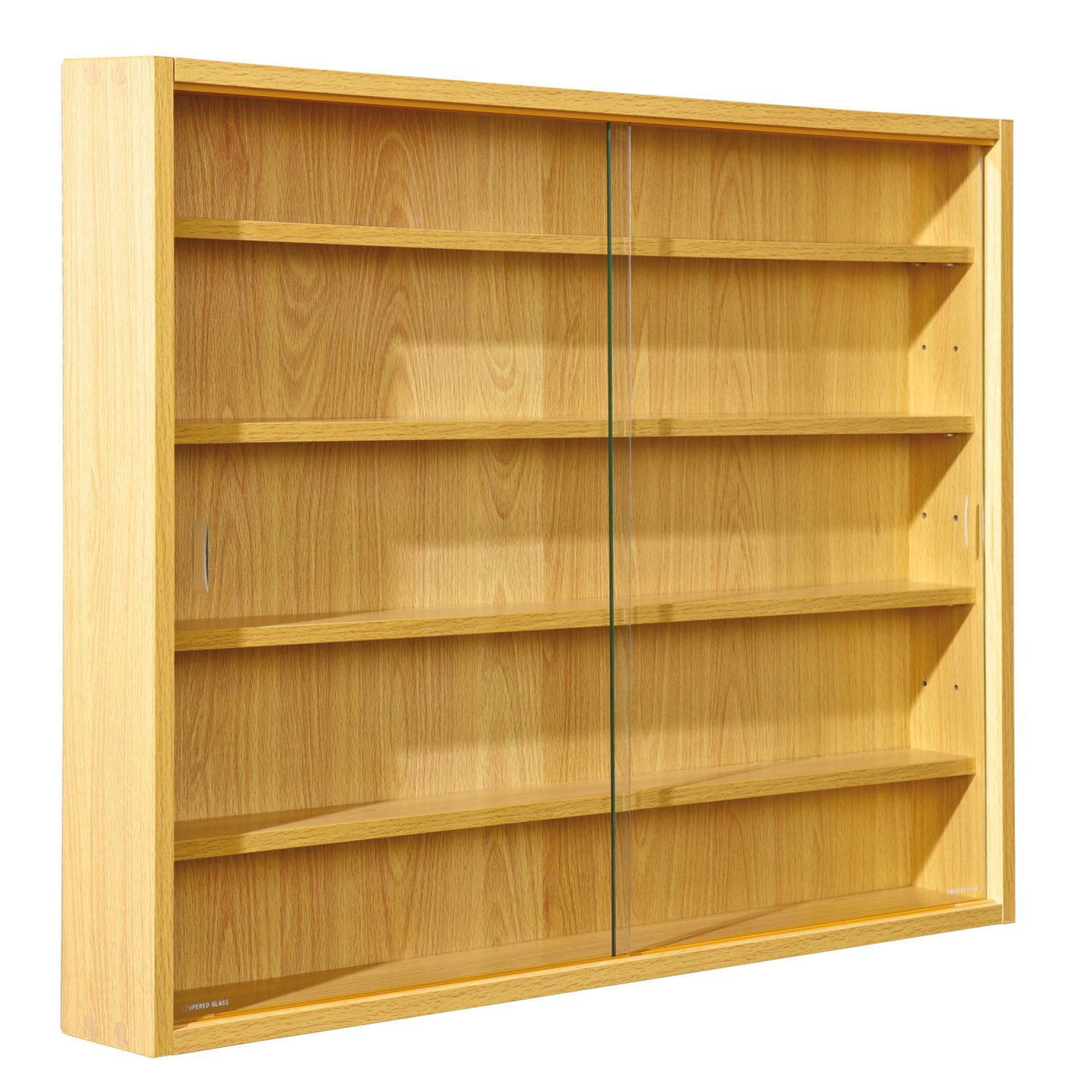 Delightful Image Is Loading Collectors DISPLAY Cabinet  Wooden Glass Shelves Vitrine Collections