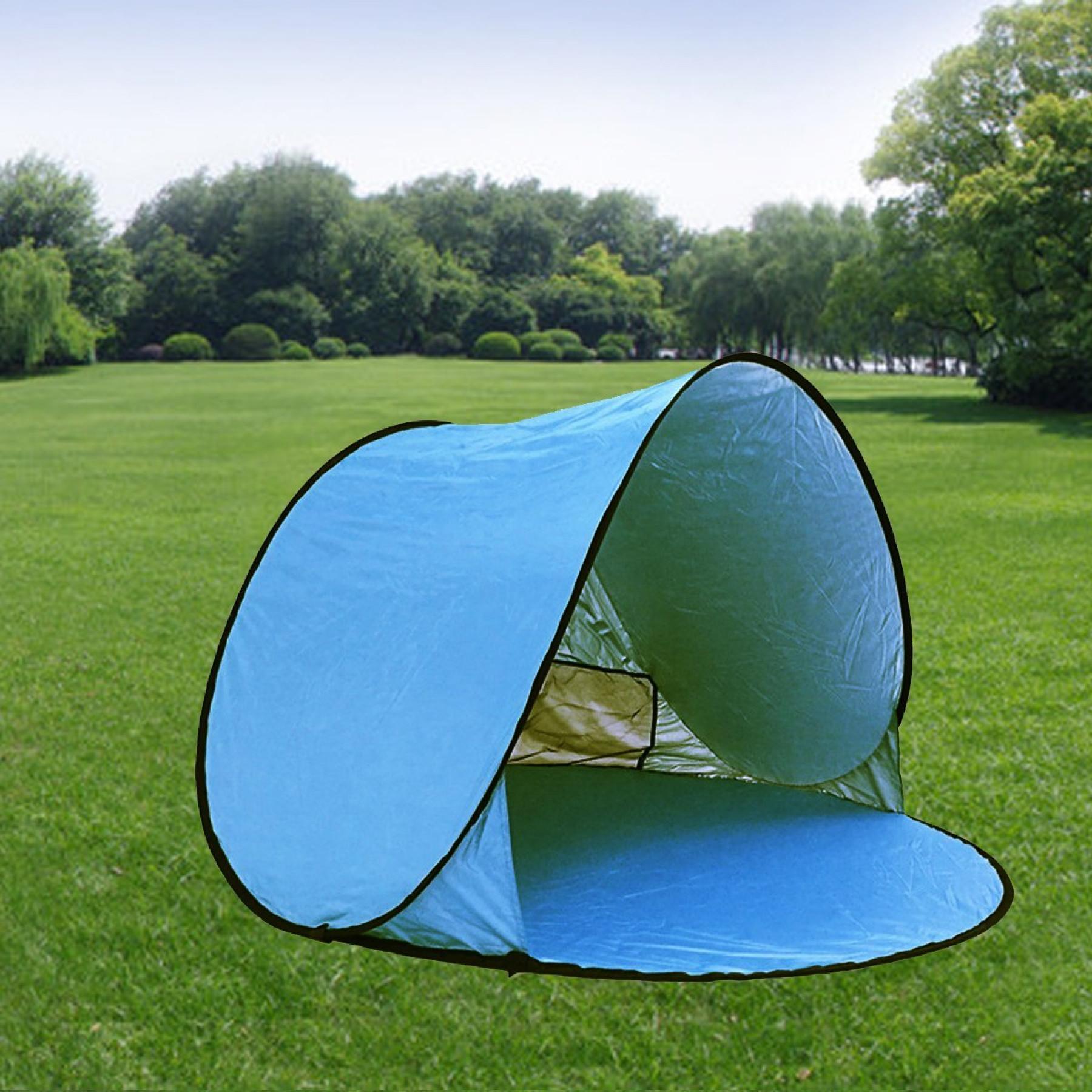 Cabana Portable Shelter : Automatic pop up beach tent portable lightweight sun