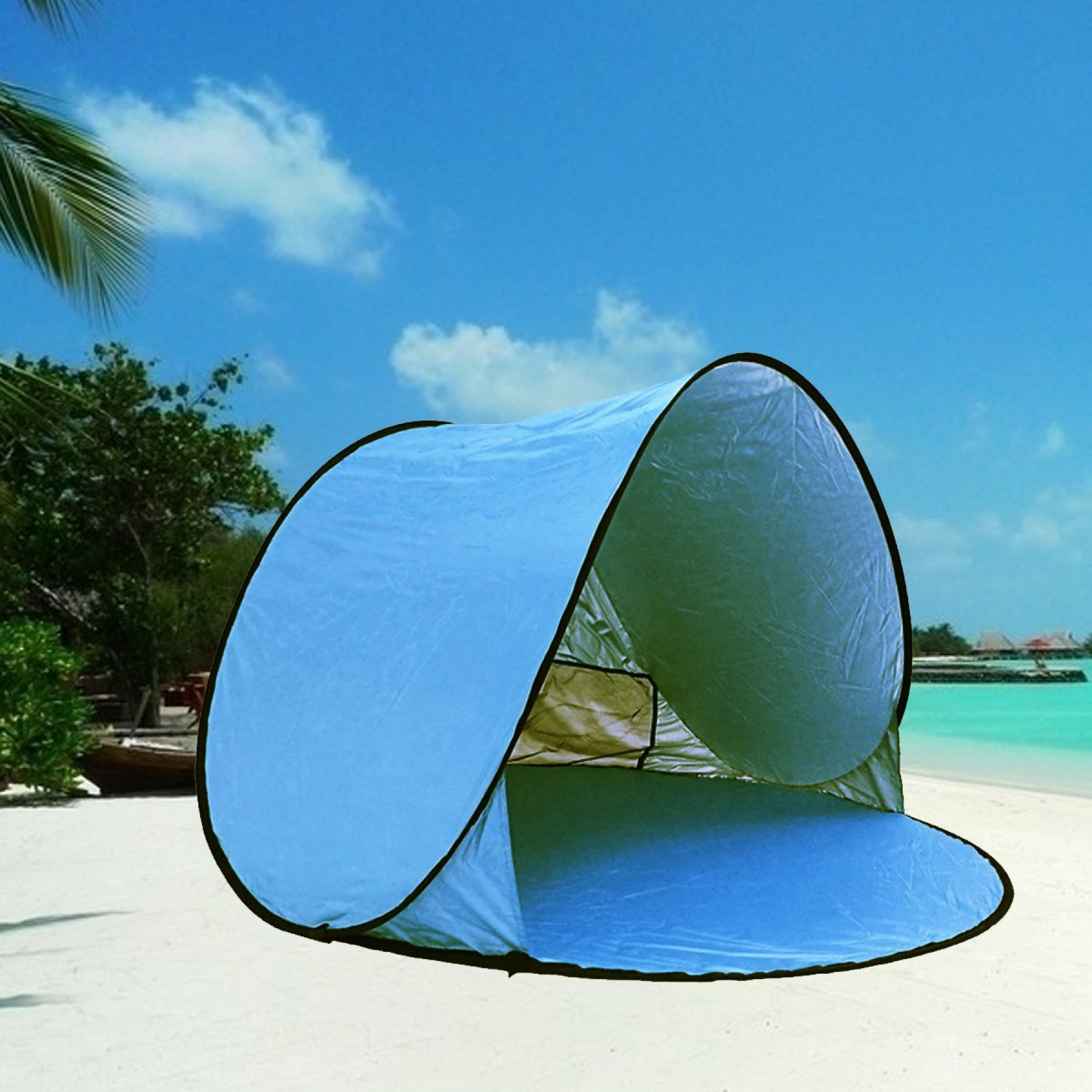 Beach Tents Cabanas : Automatic pop up beach tent portable lightweight sun
