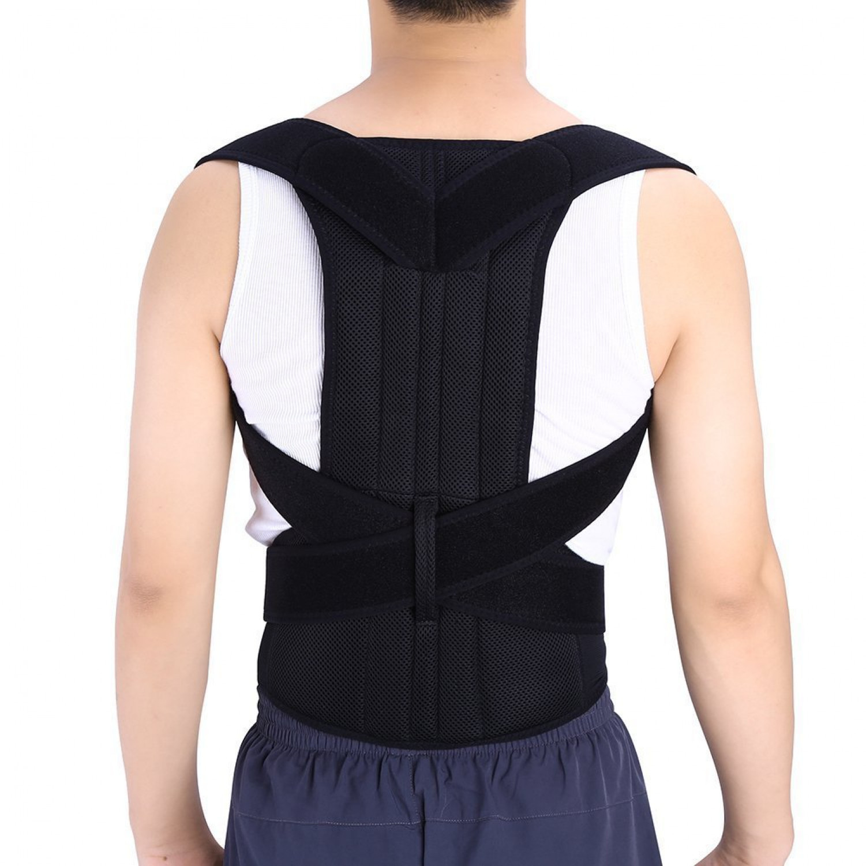 Posture Back Shoulder Corrector Therapy Adjustable Support ...